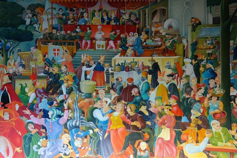 """Au Moyen Age, les nobles mangeaient sur des pains-assiettes, les """"tranchoirs"""". A la fin du repas, ils les :"""